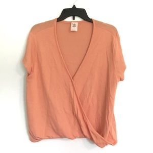 Free People Coral Blouse Size Large